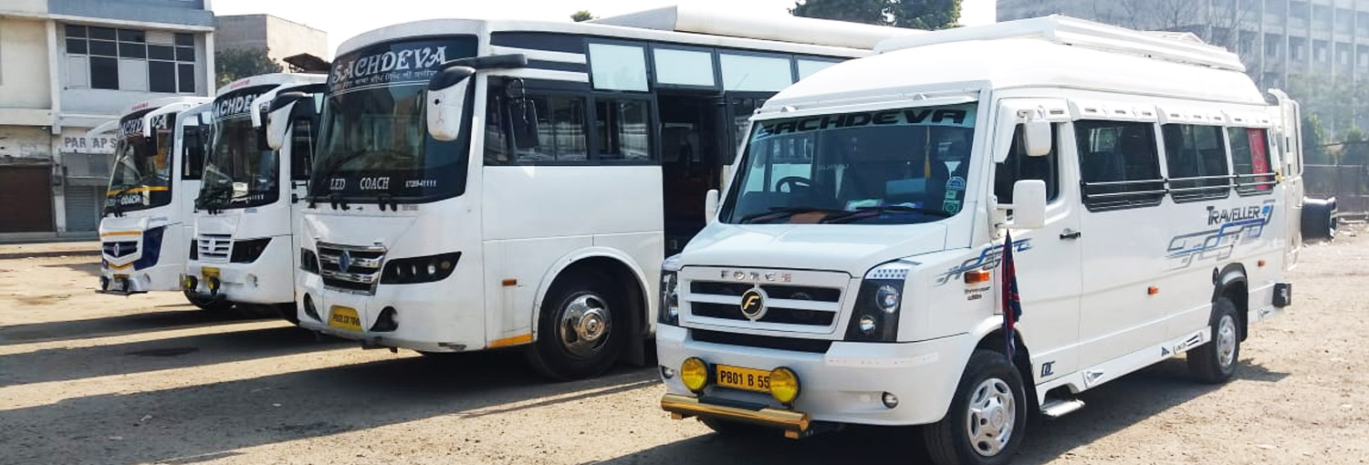 Welcome to Sachdeva Travels. Buses & Tempo Travellers in Amritsar
